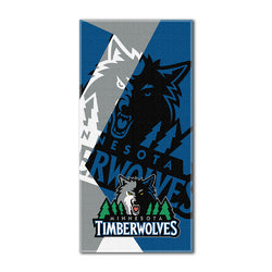 Minnesota Timberwolves NBA ?Puzzle? Over-sized Beach Towel (34in x 72in)