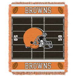 "Cleveland Browns NFL Triple Woven Jacquard Throw (Field Baby Series) (36x48"")"""