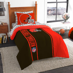 Cleveland Browns NFL Twin Comforter Bed in a Bag (Soft & Cozy) (64in x 86in)