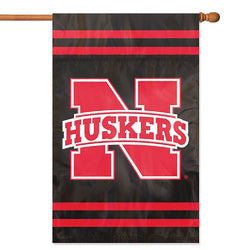 "Nebraska Cornhuskers NCAA Applique Banner Flag (44x28"")"""