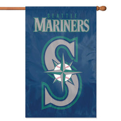 "Seattle Mariners MLB Applique Banner Flag (44x28"")"""