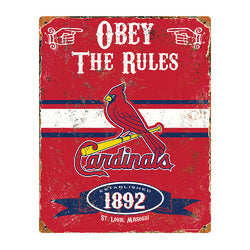 St. Louis Cardinals MLB Vintage Metal Sign (11.5in x 14.5in)