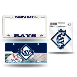 Tampa Bay Rays MLB 3 Piece Auto Value Pack