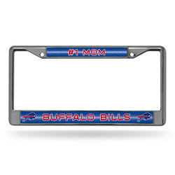 Buffalo Bills NFL #1 Mom License Plate Frame (Chrome Glitter)