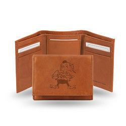 Cleveland Browns  Tri-Fold Wallet (Pecan Cowhide)
