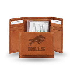Buffalo Bills  Tri-Fold Wallet (Pecan Cowhide)
