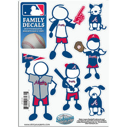 Atlanta Braves MLB Family Car Decal Set (Small)