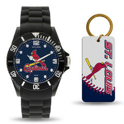 St. Louis Cardinals MLB Watch and Keychain Gift Set