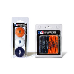 Detroit Tigers MLB 3 Ball Pack and 50 Tee Pack