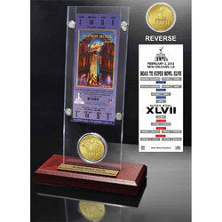 Super Bowl 47  Flip Coin Ticket Acrylic