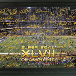 Baltimore Ravens Super Bowl XLVII Champions Celebration Signature Gridiron