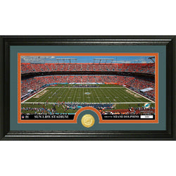 Miami Dolphins inStadiumin Bronze Coin Panoramic Photo Mint