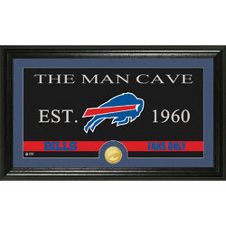 "Buffalo Bills Man Cave"" Bronze Coin Panoramic Photo Mint"""