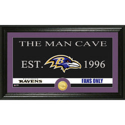 "Baltimore Ravens Man Cave"" Bronze Coin Panoramic Photo Mint"""