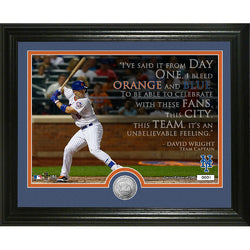 "David Wright Quote"" Silver Coin Photo Mint"""
