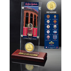St. Louis Cardinals World Series Ticket & Bronze Coin Acrylic Desk Top