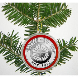 Seattle Mariners Silver Coin Ornament