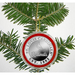 St. Louis Cardinals Silver Coin Ornament