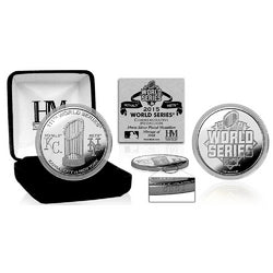 2015 World Series Dueling Silver Mint Coin (Kansas City vs Mets)