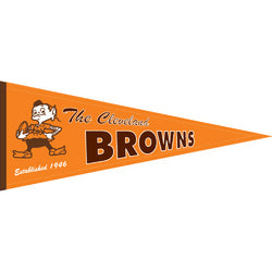 "Cleveland Browns NFL Throwback"" Pennant (13""x32"")"""