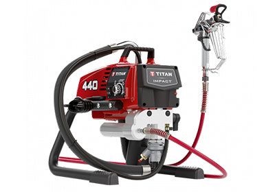 Titan 440 Impact Airless Sprayer, available for rent at Colorize Queensbury.