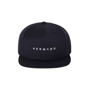 HERMANO NAVY SNAP BACK TEXT EMBROIDERY