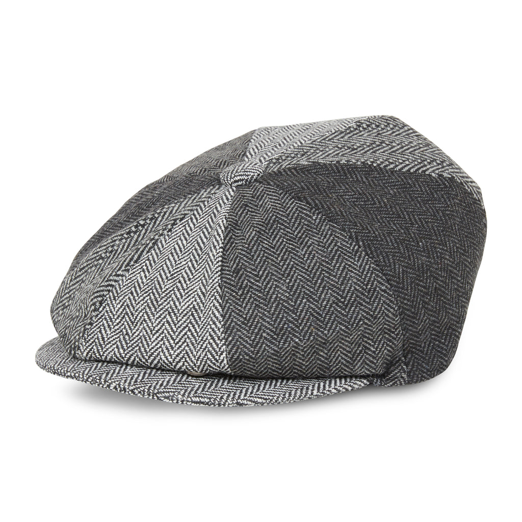CLASSIC HERMANO BAKER BOY PATCH GREY - H E R M A N O