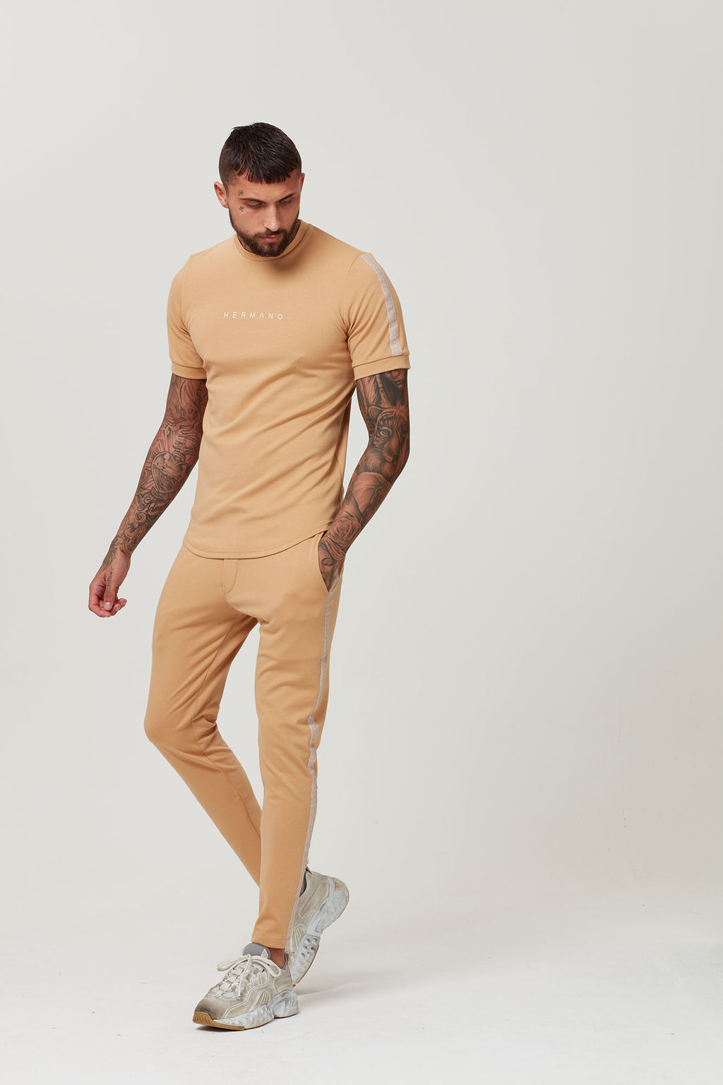 HERMANO TAPED TSHIRT CAMEL