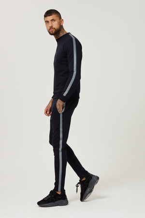 TAPED JERSEY TRACK PANT BLACK