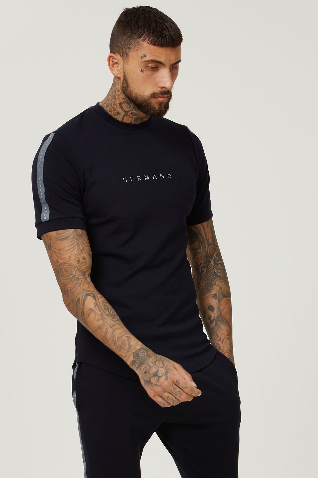BLACK TAPE SLIM FIT TSHIRT - H E R M A N O
