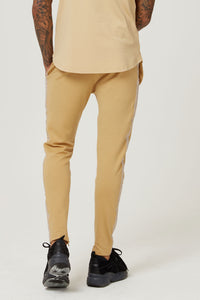 TAPED JERSEY TRACK PANT CAMEL - H E R M A N O