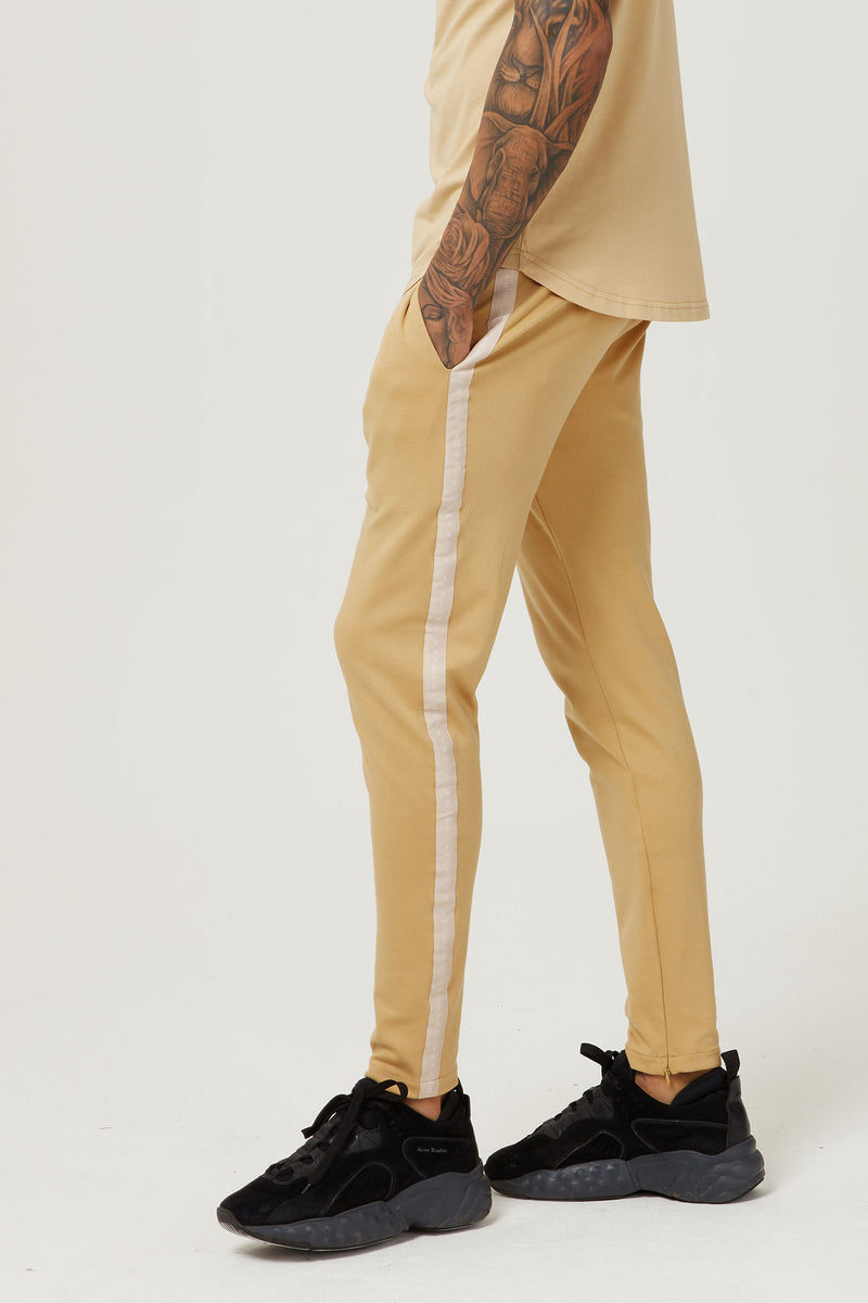 TAPED JERSEY TRACK PANT CAMEL