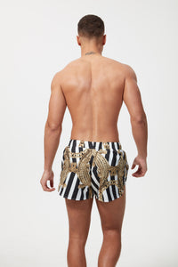 HERMANO SWIM SHORT CROC BLACK
