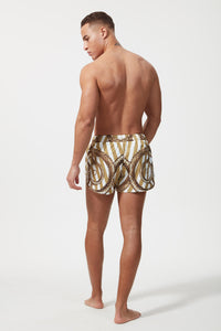 HERMANO SWIM SHORT SNAKE WHITE GOLD
