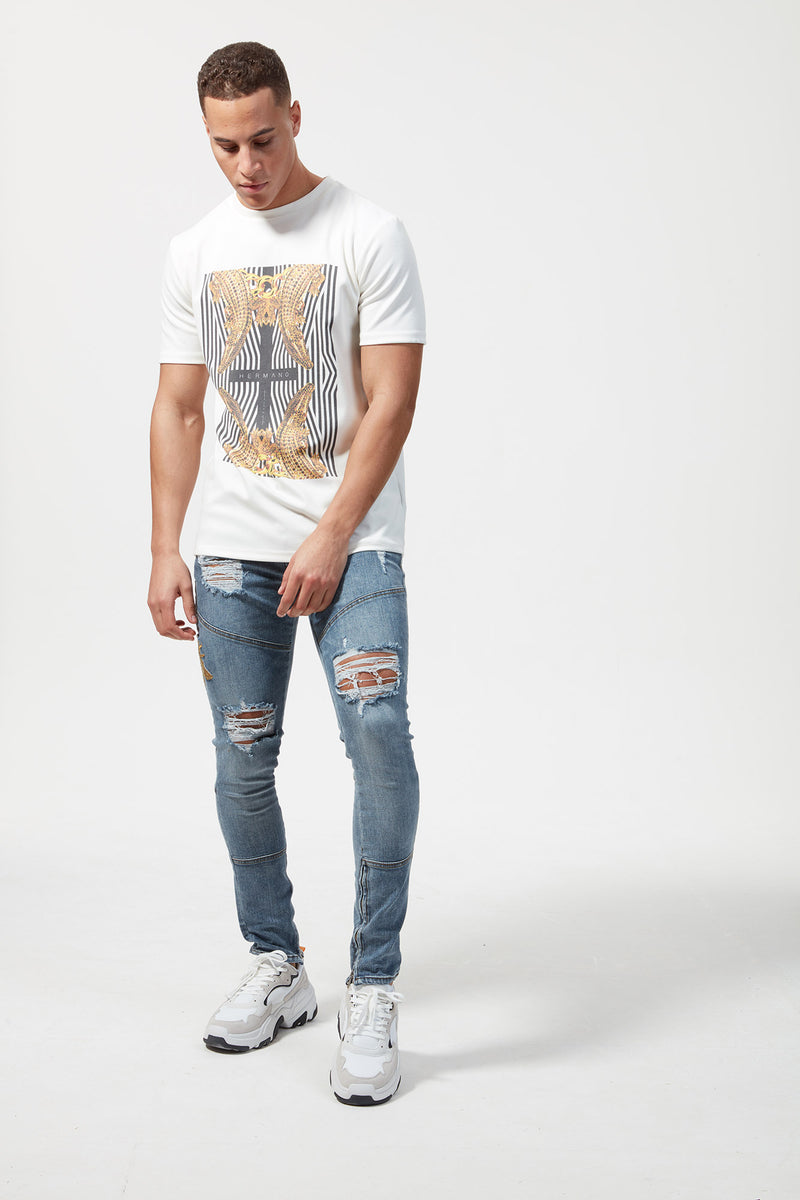 HERMANO CROSS CROC PRINT TSHIRT