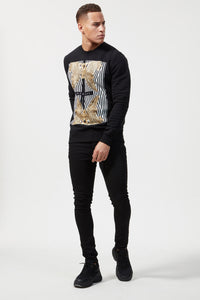 GRAPHIC PRINT CREW NECK SWEATSHIRT CROCODILE