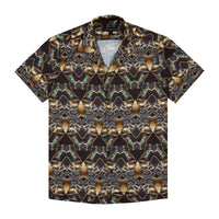 BLACK PANTHER PRINT SHORT SLEEVE CUBAN SHIRT - H E R M A N O