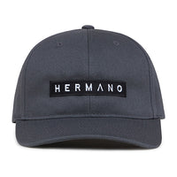Grey Hermano Logo Embroidered Snapback Cap - H E R M A N O