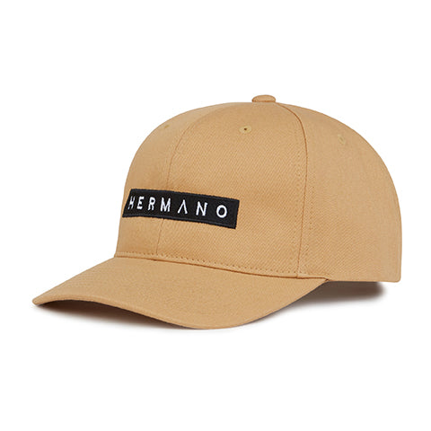 Tan Hermano Logo Embroidered Snapback Cap - H E R M A N O