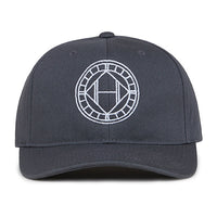 Grey Mosaic Circle Logo Embroidered Snapback Cap - H E R M A N O