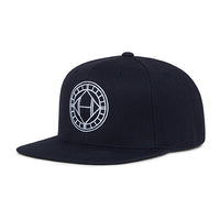 Black Mosaic Circle Logo Embroidered Snapback Cap - H E R M A N O
