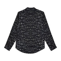 Black Snake Print Long Sleeve Slim Fit Shirt - H E R M A N O