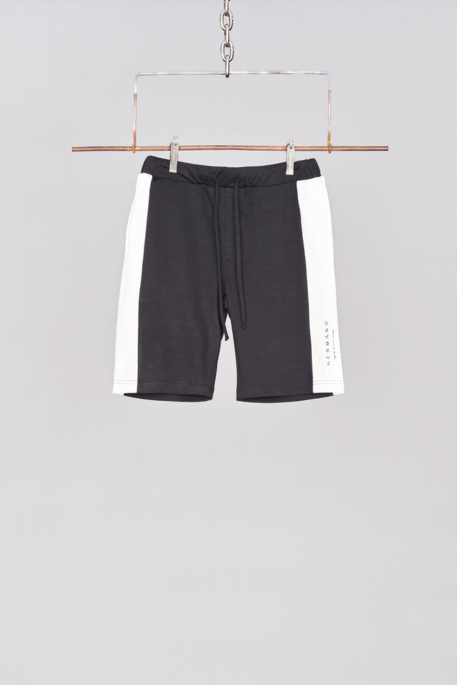 Black Side Panel Jersey Short - H E R M A N O