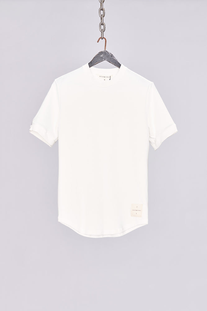 White Taped Jersey T-Shirt - H E R M A N O