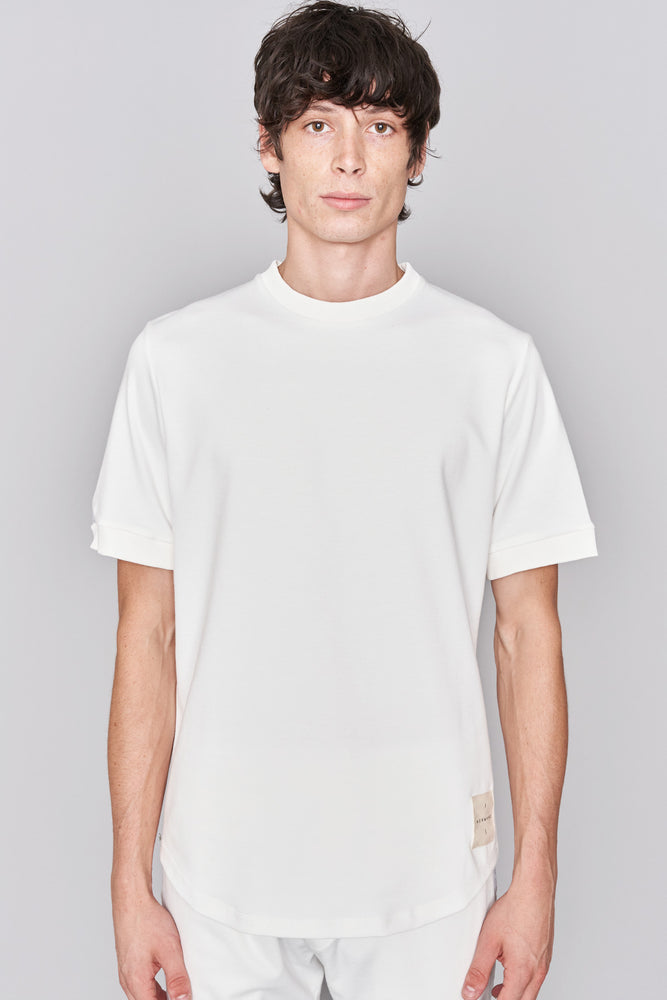 Load image into Gallery viewer, White Taped Jersey T-Shirt - H E R M A N O