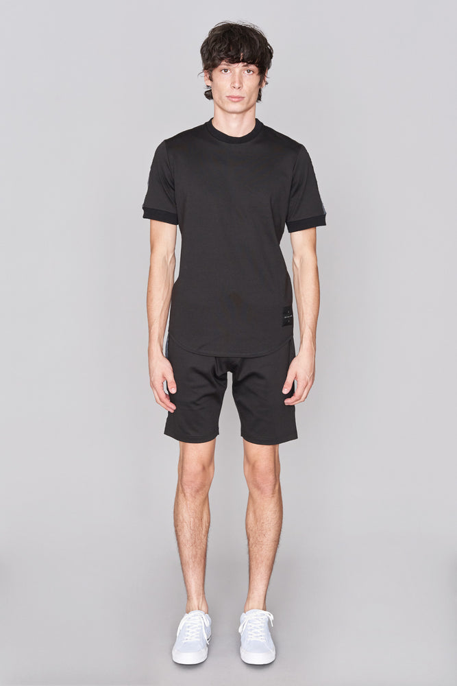 Black Taped Jersey T-Shirt - H E R M A N O