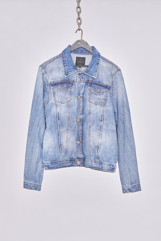 Mid Wash Classic Denim Jacket - H E R M A N O