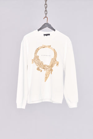 Load image into Gallery viewer, White Crocodile Print Sweatshirt - H E R M A N O