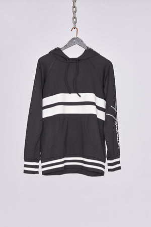 Load image into Gallery viewer, Black Contrast Hoodie - H E R M A N O