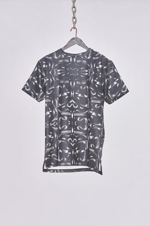 Black All Over Snake Print T-Shirt - H E R M A N O